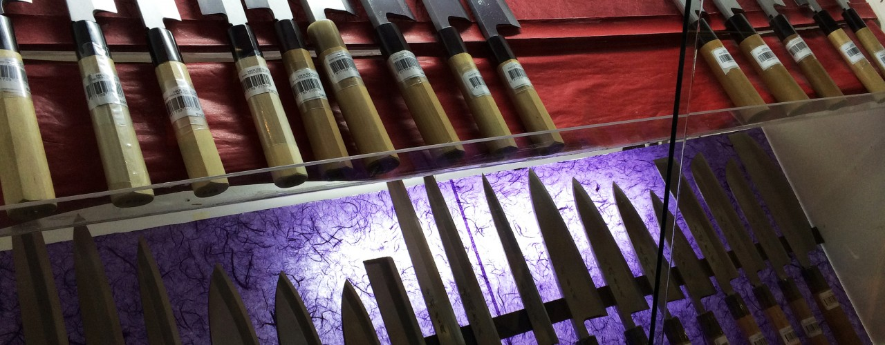 Japanese knives at Korin in New York. Photo by alphacityguides.