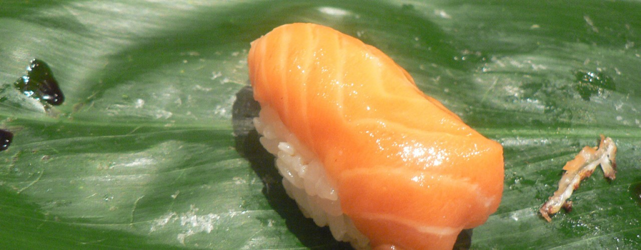 """Sushi at Sushi Yasuda in New York. Photo by <a href=""""http://www.flickr.com/photos/stuart_spivack/116210799/in/set-72057594087860695//"""">stu_spivack</a>"""
