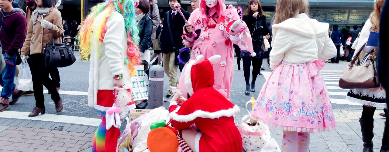 Tokyo fashion outside Harajuku in Tokyo. Photo by alphacityguides.