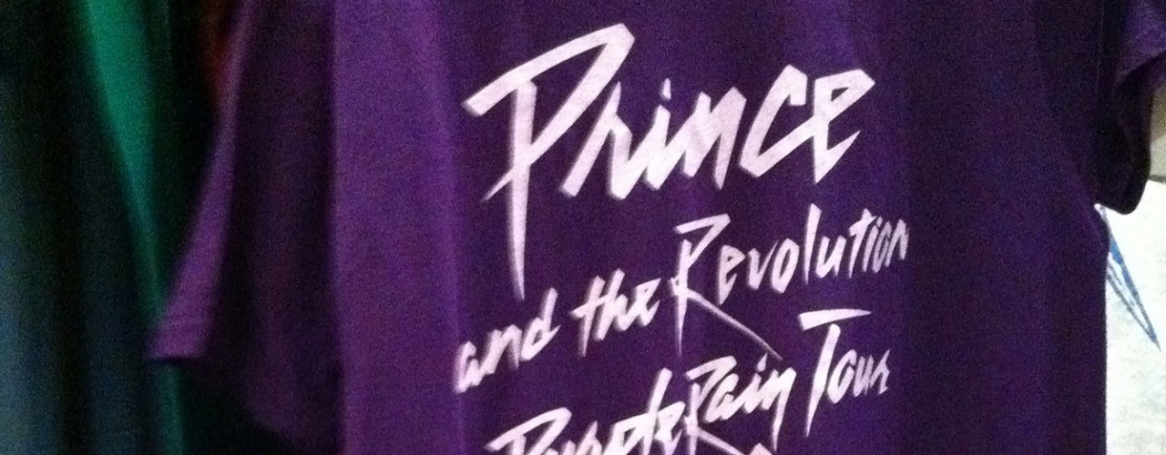 Purple Rain T-shirt at Scout Vintage T-Shirts in New York. Photo by alphacityguides.