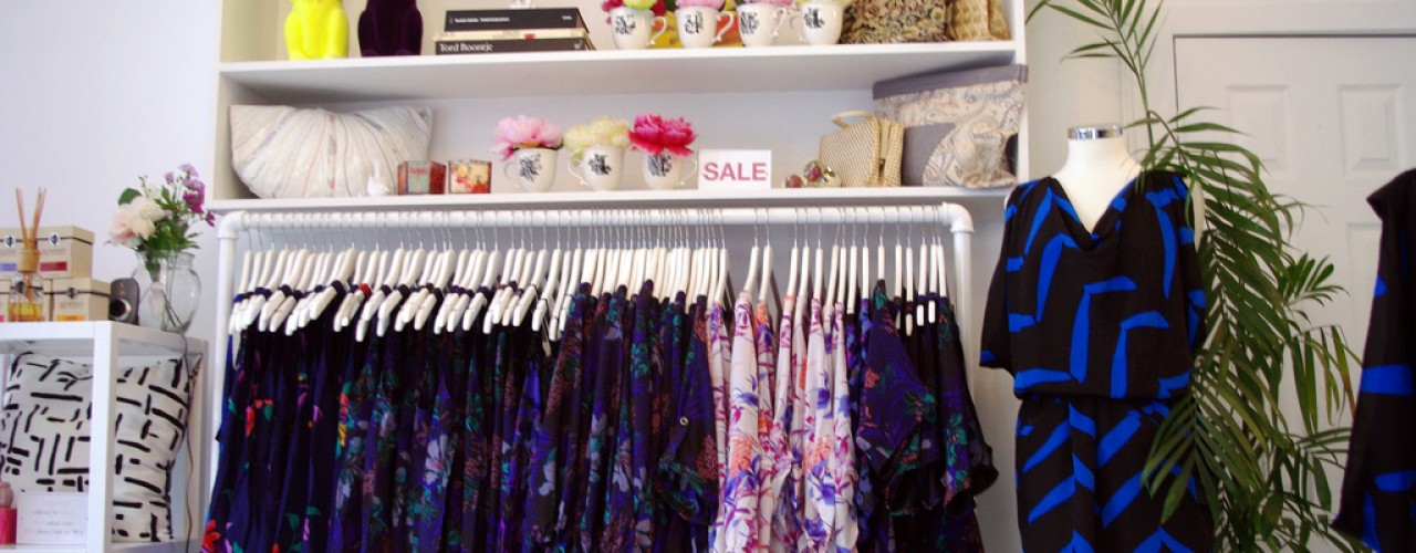 Fashion inside Yumi Kim in New York. Photo by alphacityguides.