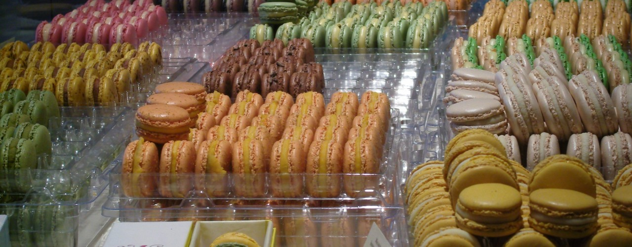 Macarons at Pierre Herme in Paris.Photo by alphacityguides.