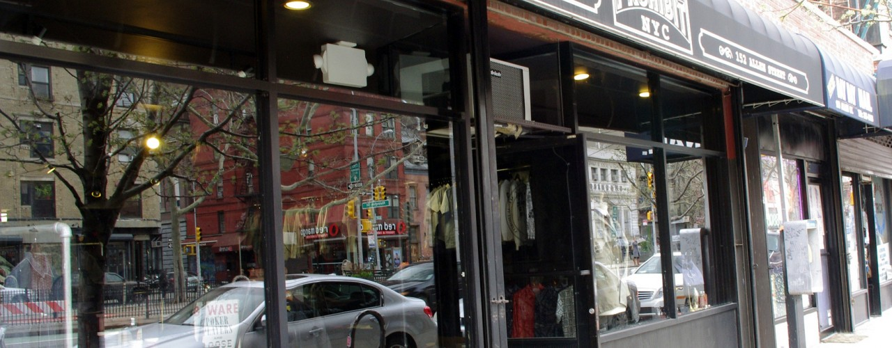 Store front at Prohibit in New York. Photo by alphacityguides.