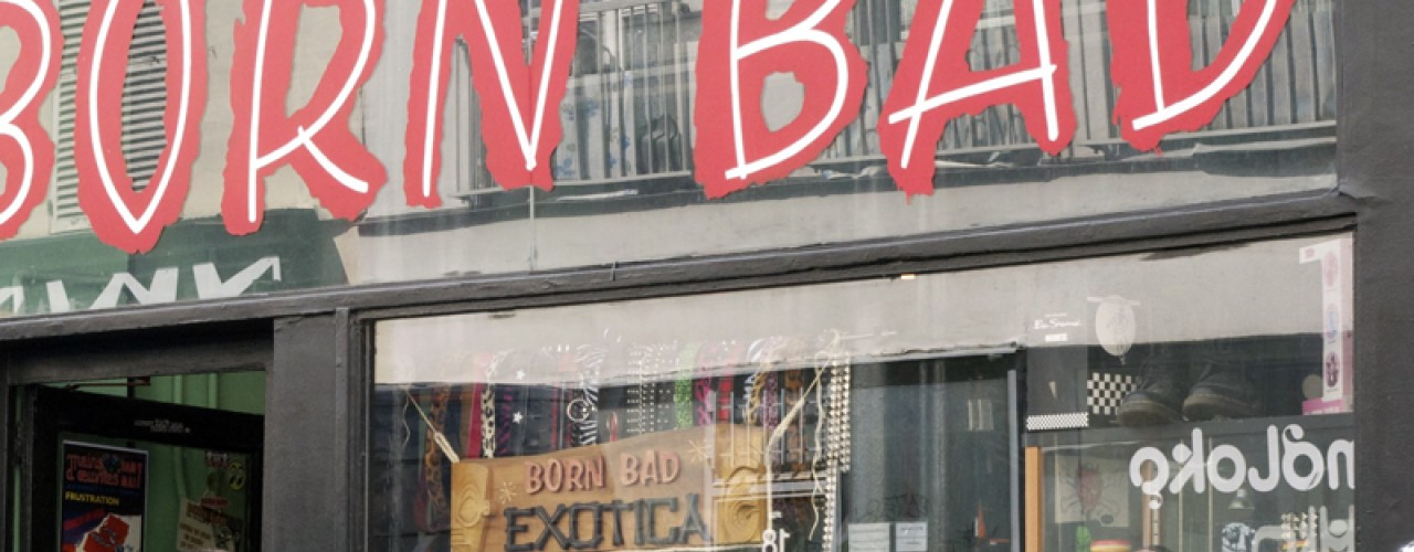 Store front at Born Bad Exotica in Paris. Photo by alphacityguides.