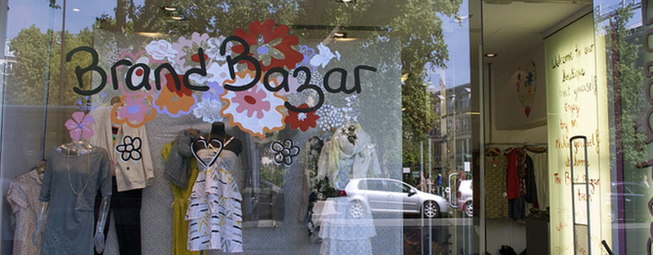 Store front at Brand Bazar in Paris. Photo by alphacityguides.