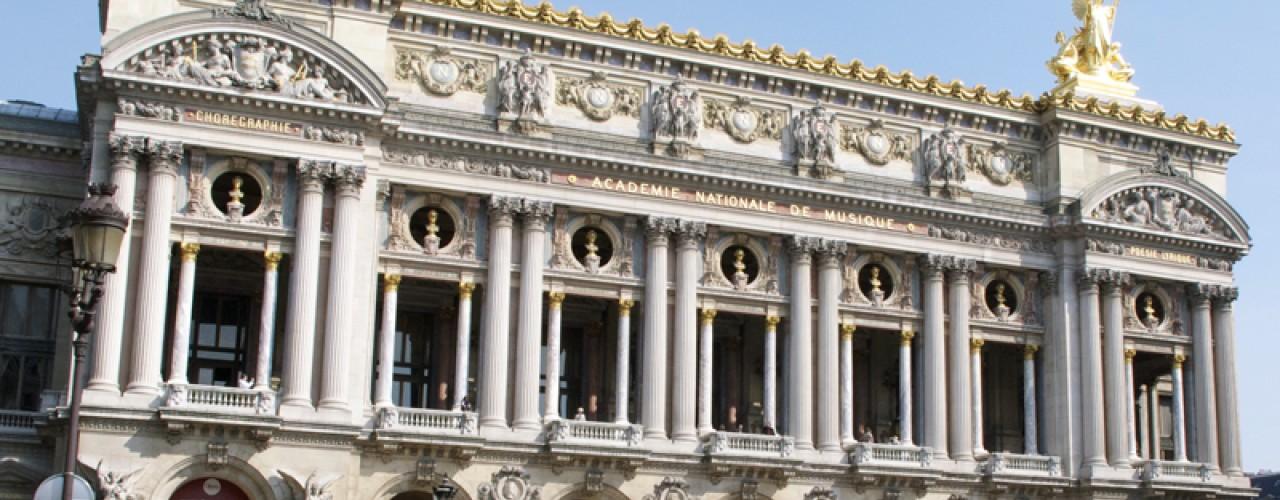 Outside of Opéra National de Paris. Photo by alphacityguides.