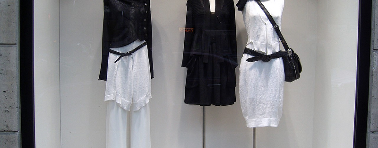 Fashion display at Infinitive in Paris. Photo by alphacityguides.