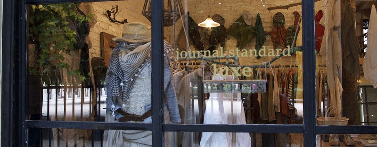Window at Journal Standard Luxe in Paris. Photo by alphacityguides.