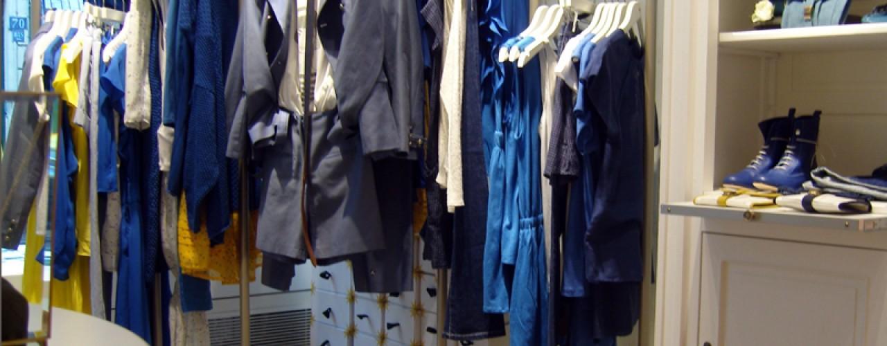 Fashion inside Les Fées de Bengale in Paris. Photo by alphacityguides.