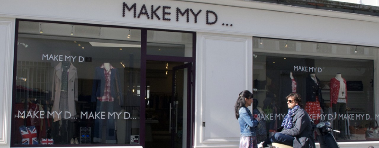 Store front at Make My D in Paris. Photo by alphacityguides.