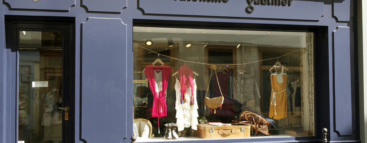 Store front at Valentine Gauthier in Paris. Photo by alphacityguides.