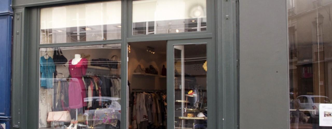 Store front at Violette & Léonie in Paris. Photo by alphacityguides.