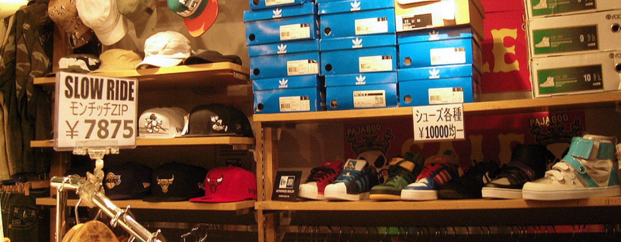 Sneakers at Pajaboo in Tokyo. Photo by alphacityguides.