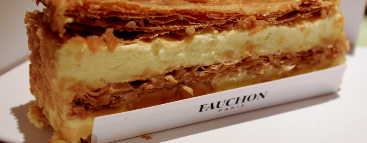 Mille-feuille at Fauchon in Paris. Photo by alphacityguides.