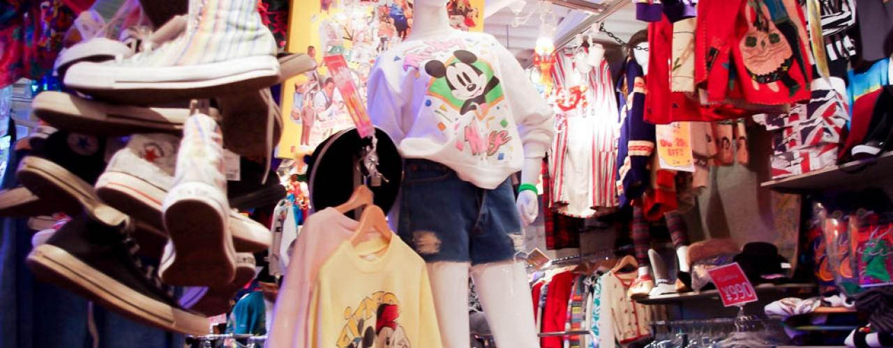 Mickey Mouse sweater at Spinns Harajuku, Tokyo, Japan.