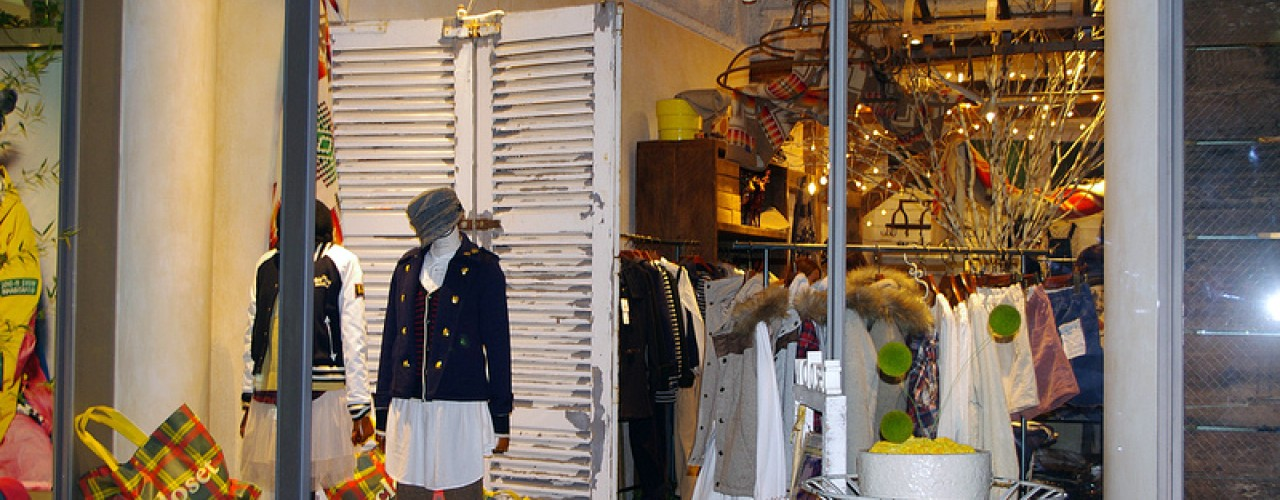 Fashion at W Closet in Tokyo. Photo by alphacityguides.