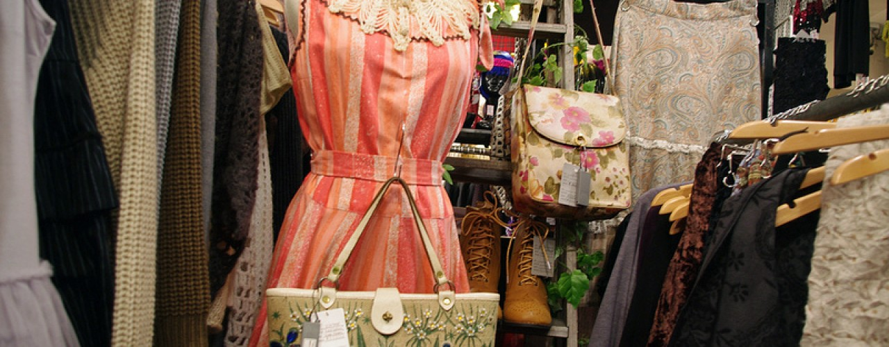 Vintage dress inside G2? in Tokyo. Photo by alphacityguides.