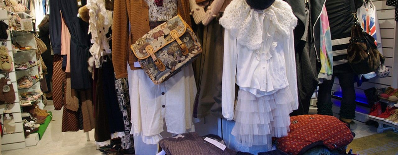 Fashion inside Romantic Standard in Tokyo. Photo by alphacityguides.
