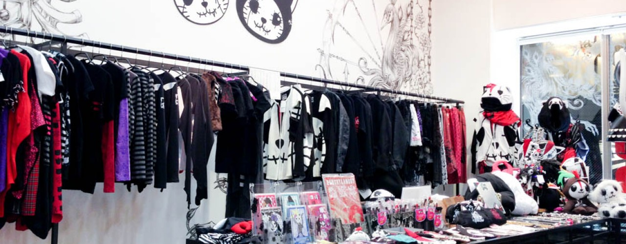 Japanese fashion gothic Shop H. Naoto in Tokyo. Photo by alphacityguides.