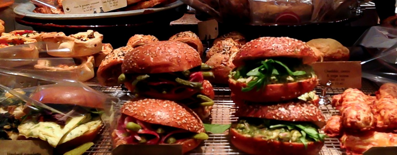 Sandwiches at Gail's in London. Photo by alphacityguides.