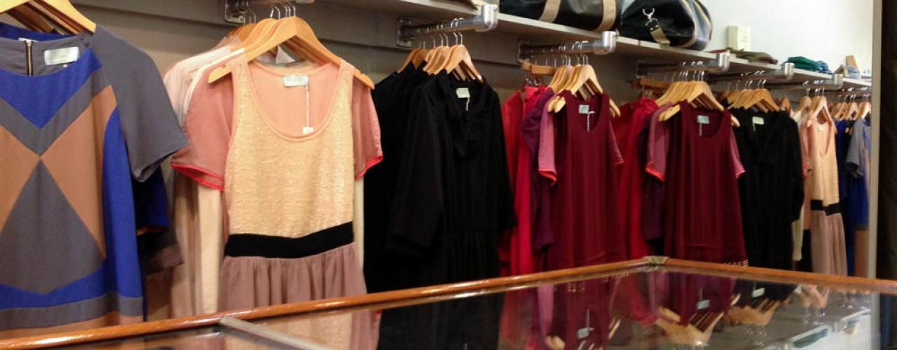 Fashion display inside Juju s'amuse! in New York. Photo by alphacityguides.