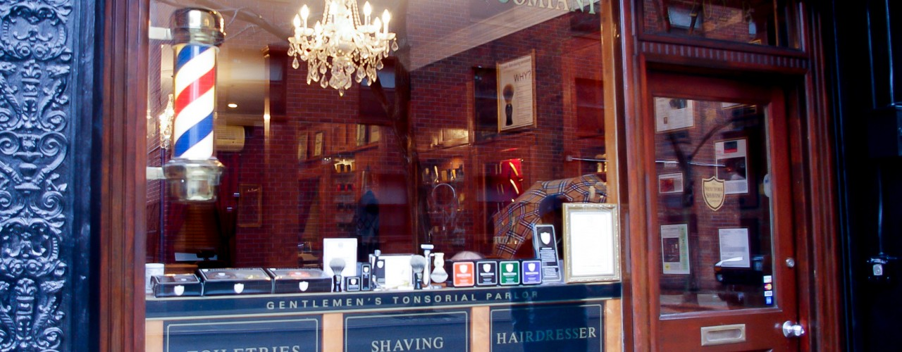 The New York Shaving Company in New York. Photo by alphacityguides.
