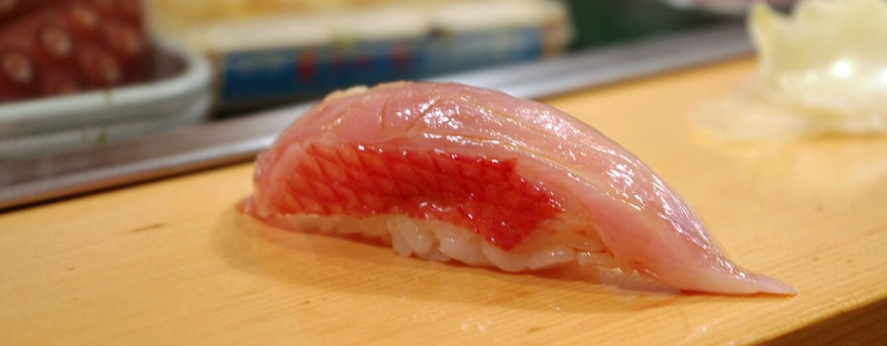 O-Toro at Sushi Dai in Tokyo. Photo by alphacityguides.