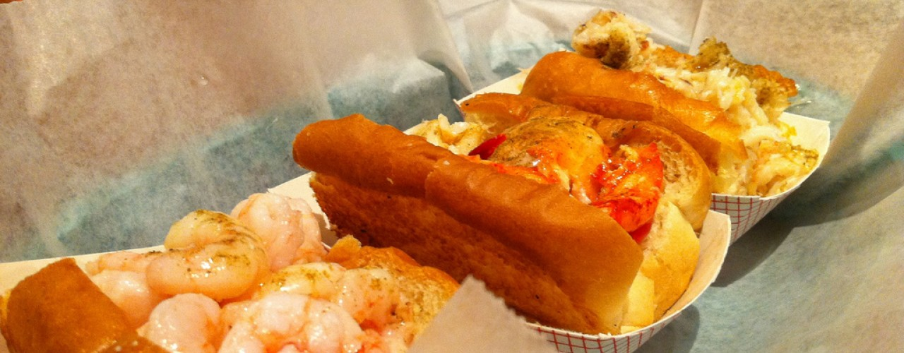 Taste of Maine platter at Luke's Lobster in New York. Photo by alphacityguides