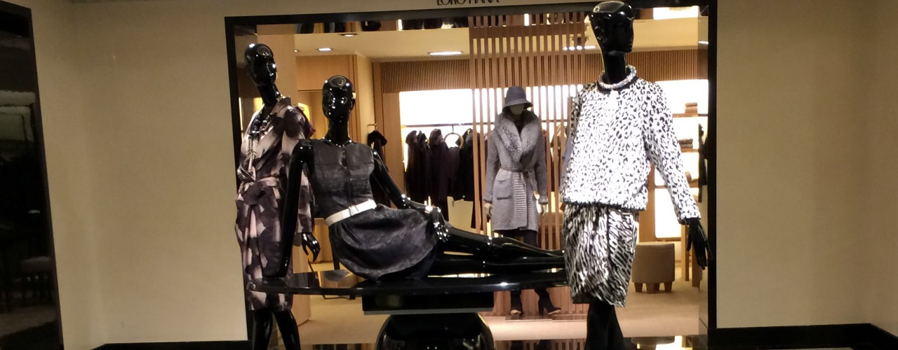 Fashion display at Bergdorf Goodman in New York. Photo by alphacityguides.
