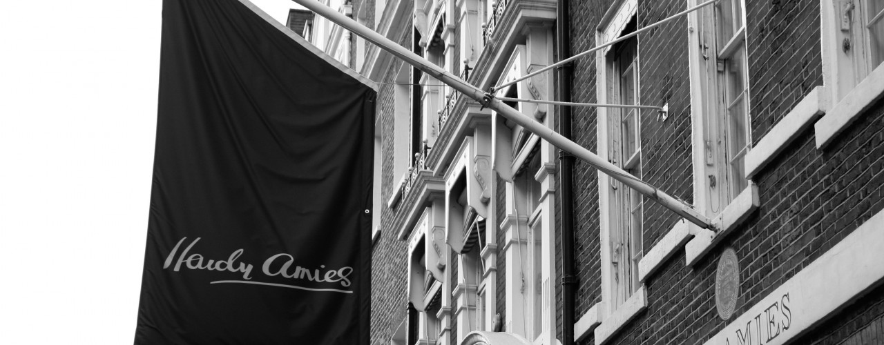 Hardy Amies in London. Photo supplied by Hardy Amies.