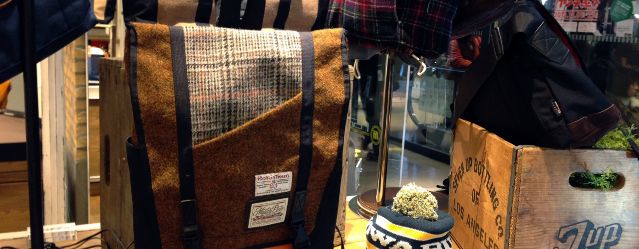 Menswear accessories at Lumine Man in Tokyo. Photo by alphacityguides.