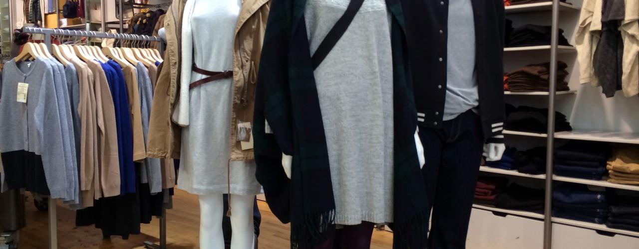 Womenswear fashion at Muji in New York. Photo by alphacityguides.