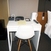 Desk at Agora Place Hotel in Tokyo. Photo by alphacityguides.