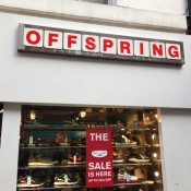 Store front at Offspring in London. Photo by alphacityguides.