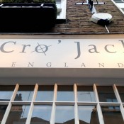 Store front at Cro' Jack in London. Photo by alphacityguides.
