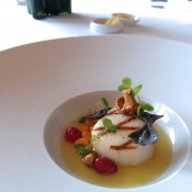 Grilled Maine Sea Scallop at Per Se in New York. Photo by alphacityguides.