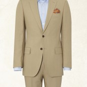 Tan suit from Gieves & Hawkes. Photo supplied by Gieves & Hawkes.