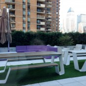 Patio in restaurant at Yotel in New York. Photo by alphacityguides.