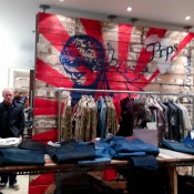 Denim gallery at Harvey Nichols in London. Photo by alphacityguides.