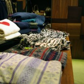 Sweater table at Ciopanic in Tokyo. Photo by alphacityguides.