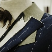 Gieves & Hawkes suit under construction. Photo supplied by Gieves & Hawkes