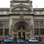 Outside the V & A Museum in London. Photo by alphacityguides.