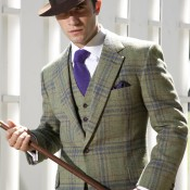 Bespoke suit from Huntsman in London. Photo supplied by Huntsman.