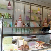 Ladurée pastry counter in Paris. Photo by alphacityguides.