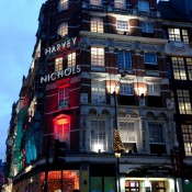 Store front at Harvey Nichols in London. Photo by alphacityguides.