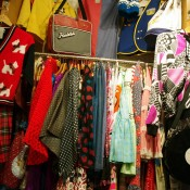 Vintage fashion inside G2? in Tokyo. Photo by alphacityguides.
