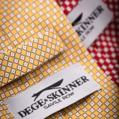 Silk ties at Dege & Skinner, London. Photo supplied by Dege & Skinner.