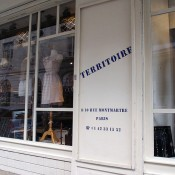 Store front at Territoire in Paris. Photo by alphacityguides.