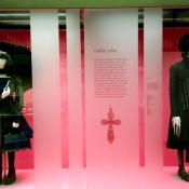 Gothic Lolita costumes from a Japanese street fashion exhibit at the V&A museum in London