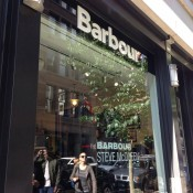 Store front at Barbour in New York. Photo by alphacityguides.
